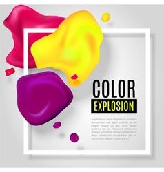 Color explosion vector image vector image
