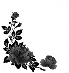 Corner rose design vector