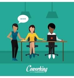 Coworking icon design vector