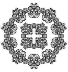Doily pattern vector