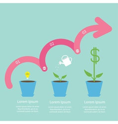 Dollar tree steps arrow vector