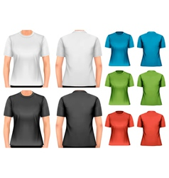 Female t-shirts design template vector