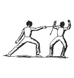 Fencing vintage vector