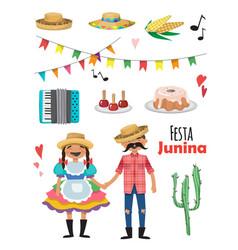 Festa junina - brazil june festival folklore vector