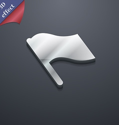 Finish start flag icon symbol 3d style trendy vector