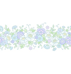 Floral wedding border vector