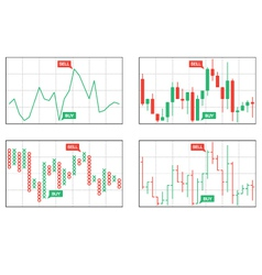 Four types of business charts vector