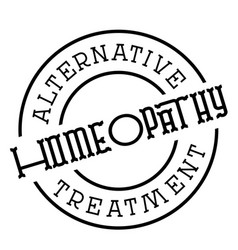 Homeopathy typographic stamp vector