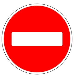 No entry road sign vector