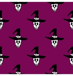 Seamless pattern halloween witch vector