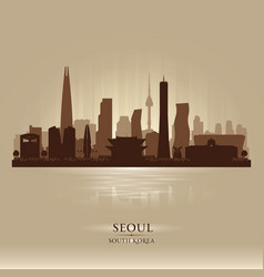 seoul south korea city skyline silhouette vector image vector image