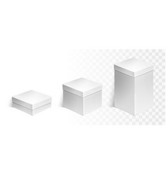 Set of three boxes vector