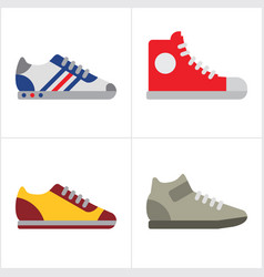 Shoes for sport vector