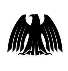 Silhouette of a proud eagle vector