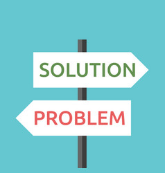 solution and problem signs vector image vector image