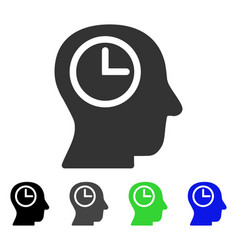 Time manager flat icon vector