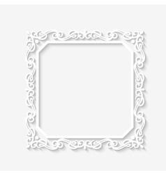 Vintage baroque white frame vector