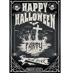 Vintage Blackboard for Halloween Party vector image