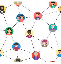 Seamless pattern of internet communication vector