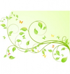plant background vector image