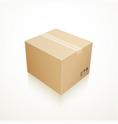 Closed cardboard box vector