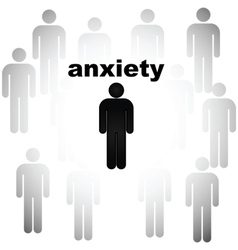 Anxiety vector image