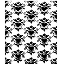 Pattern baroque with heart vector image