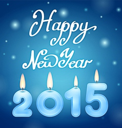 Candles 2015 happy new year vector
