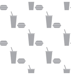 New fast food seamless pattern vector