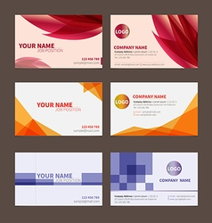 Business name card set 1 vector