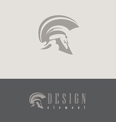 Centurion helmet design element vector