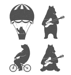 Fun bears vector