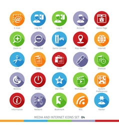 Social media flat icons set 04 vector