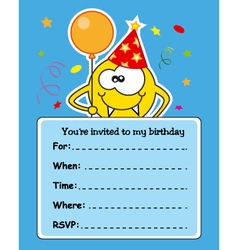 Monster birthday card vector