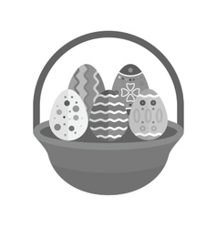 Eggs basket ii vector