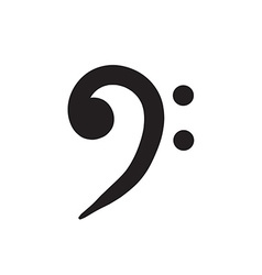 Trebble clef bass key icon hand drawn set icon vector