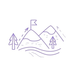 Mountain hiking simple map vector