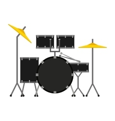 drums set isolated icon design vector image