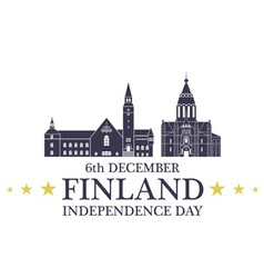 Independence day finland vector