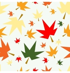Autumn fall maple leaves seamless pattern vector image vector image