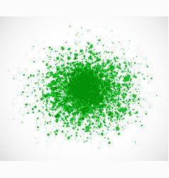 Big bright green grunge splash on white background vector