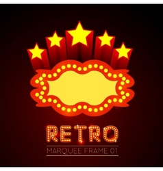 Blank movie theater or casino marquee vector image vector image