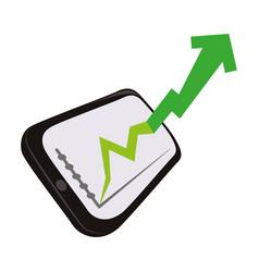 business growing statistics vector image