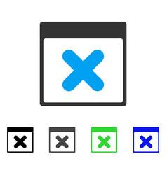 Cancel calendar page flat icon vector