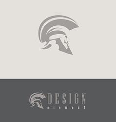 Centurion helmet design element vector