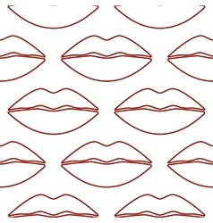 Cool Sexy Seamless Lips vector image vector image