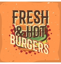 Creative logo design with burger vector
