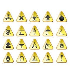 danger and industry icons vector image vector image