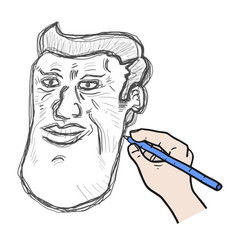 draw face vector image