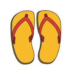 Flip flop sandals icon image vector